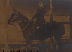 CWNicholson on horse 1914